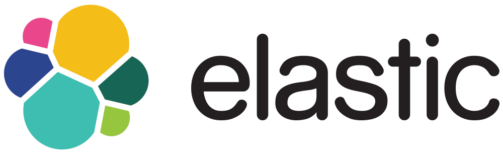 The logo of Elasticsearch, the enterprise search engine.